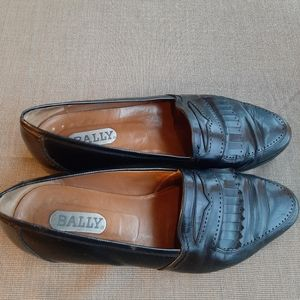 BALLY MADE IN ITALY MENS BLACK SLIP ONS SIZE 11D